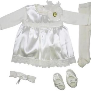 ENSEMBLE BAPTEME FILLE 5PIECES ROBE