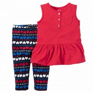 ENSEMBLE FILLE ROUGE CARTERS