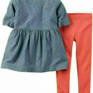 ENSEMBLE LEGGINGS FILLE ORANGE