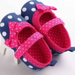 CHAUSSURES BEBE ROSE DOT
