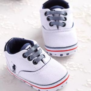 CHAUSSURES BEBE GARCON BLANC A LACETS